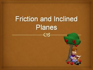 Friction and Inclined Planes Friction force that opposes