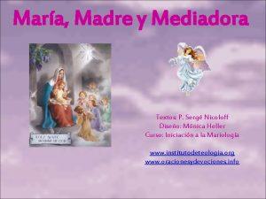 Mara Madre y Mediadora Textos P Serg Nicoloff