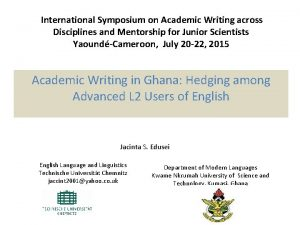 International Symposium on Academic Writing across Disciplines and