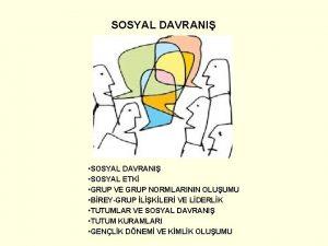 SOSYAL DAVRANI SOSYAL DAVRANI SOSYAL ETK GRUP VE