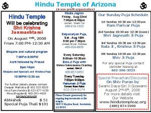 Hindu Temple of Arizona A nonprofit organization Hindu