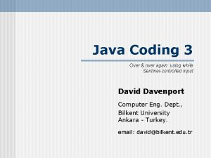 Java Coding 3 Over over again using while