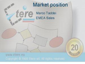 Market position Marco Taddei EMEA Sales Market position