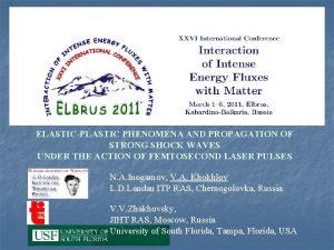 ELASTICPLASTIC PHENOMENA AND PROPAGATION OF STRONG SHOCK WAVES