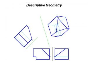 Descriptive Geometry Descriptive Geometry n n The projection