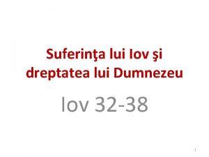 Suferina lui Iov i dreptatea lui Dumnezeu Iov