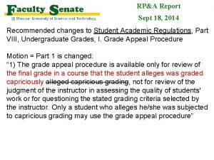 RPA Report Sept 18 2014 Recommended changes to
