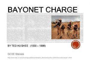 BY TED HUGHES 1930 1998 GCSE Bitesize http