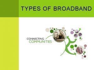 TYPES OF BROADBAND BROADBAND FLAVORS Wired Wireless Digital
