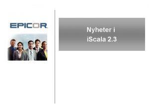 Nyheter i i Scala 2 3 Program Inledning