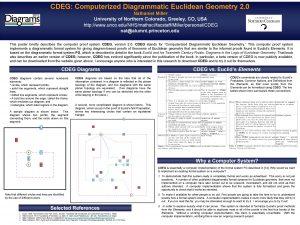 CDEG Computerized Diagrammatic Euclidean Geometry 2 0 Nathaniel