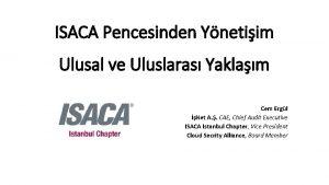 ISACA Pencesinden Ynetiim Ulusal ve Uluslaras Yaklam Cem