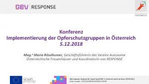 Konferenz Implementierung der Opferschutzgruppen in sterreich 5 12
