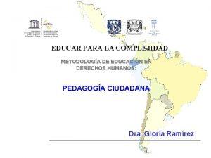 EDUCAR PARA LA COMPLEJIDAD METODOLOGA DE EDUCACIN EN