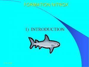 FORMATION NITROX 1 INTRODUCTION PCL 2004 FORMATION NITROX