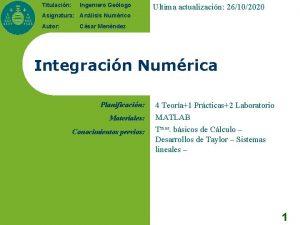 Titulacin Ingeniero Gelogo Ultima actualizacin 26102020 Asignatura Anlisis