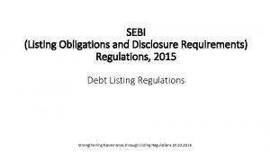 SEBI Listing Obligations and Disclosure Requirements Regulations 2015