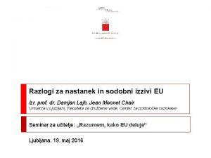 Razlogi za nastanek in sodobni izzivi EU izr