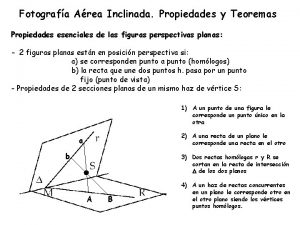Fotografa Area Inclinada Propiedades y Teoremas Propiedades esenciales