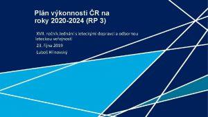 Pln vkonnosti R na roky 2020 2024 RP