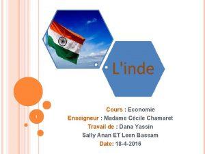 1 Cours Economie Enseigneur Madame Ccile Chamaret Travail