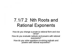 7 17 2 Nth Roots and Rational Exponents