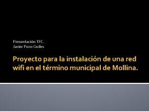 Presentacin TFC Javier Pozo Quiles Proyecto para la