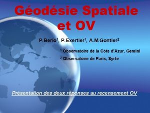 Godsie Spatiale et OV P Berio 1 P