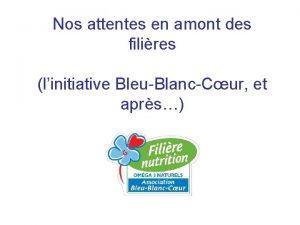 Nos attentes en amont des filires linitiative BleuBlancCur