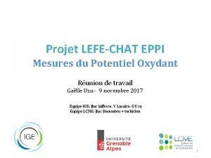 Projet LEFECHAT EPPI Mesures du Potentiel Oxydant Runion