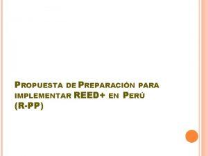 PROPUESTA DE PREPARACIN PARA IMPLEMENTAR RPP REED EN