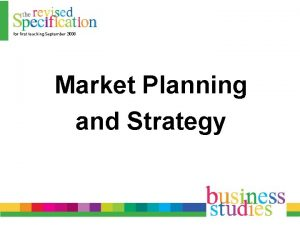 Market Planning and Strategy Market Research Plan SWOT