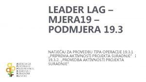 LEADER LAG MJERA 19 PODMJERA 19 3 NATJEAJ