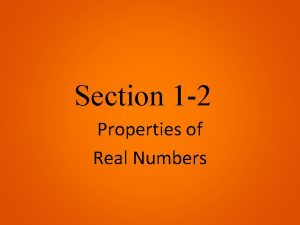 Section 1 2 Properties of Real Numbers Commutative
