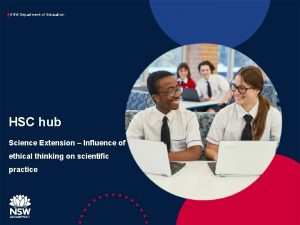 NSW Department of Education HSC hub Science Extension
