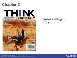 Chapter 2 Skilled and Eager to Think 2013