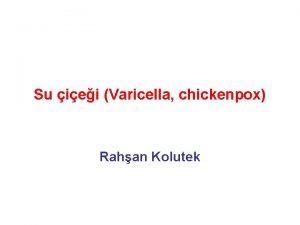Su iei Varicella chickenpox Rahan Kolutek Tanm suiei