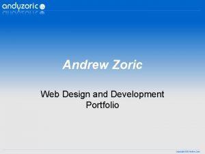Andrew Zoric Web Design and Development Portfolio Infini