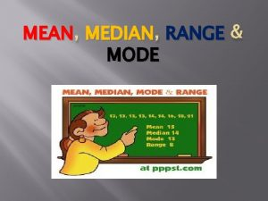 MEAN MEDIAN RANGE MODE REVIEW VIDEO MEAN How