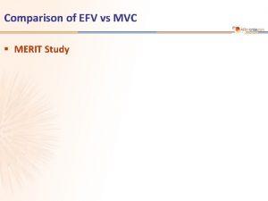 Comparison of EFV vs MVC MERIT Study MERIT