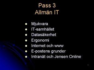 Pass 3 Allmn IT l l l l