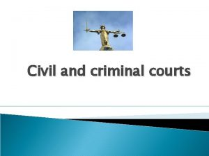 Civil and criminal courts Contents Hierarchy of courts