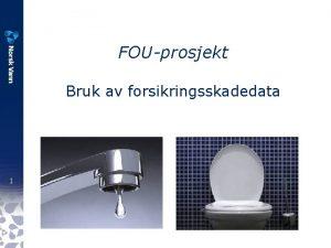 FOUprosjekt Bruk av forsikringsskadedata 1 En typisk VAkommune