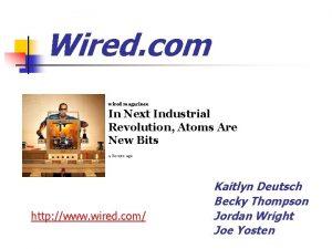 Wired com wired magazinee In Next Industrial Revolution