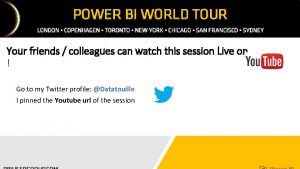 Your friends colleagues can watch this session Live