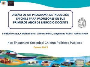 DISEO DE UN PROGRAMA DE INDUCCIN EN CHILE