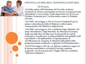 CENNI SULLA STORIA DELLASSISTENZA SANITARIA IN ITALIA In