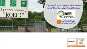 Open club verenigingsondersteuning vanuit Rabobank Hart van Brabant