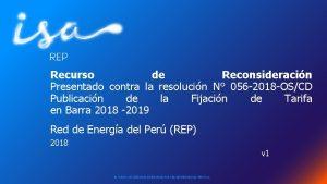 Recurso de Reconsideracin Presentado contra la resolucin N