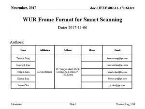 November 2017 doc IEEE 802 11 171641 r